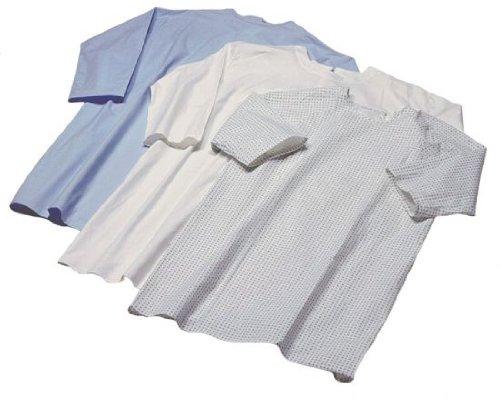 Krankenhemd, Pflegehemd, Nachthemd, Patientenhemd, Flügelhemd fuer Erwachsene, in der Farbe: schwarz-blau gemustert *Top-Qualität zum Top-Preis*
