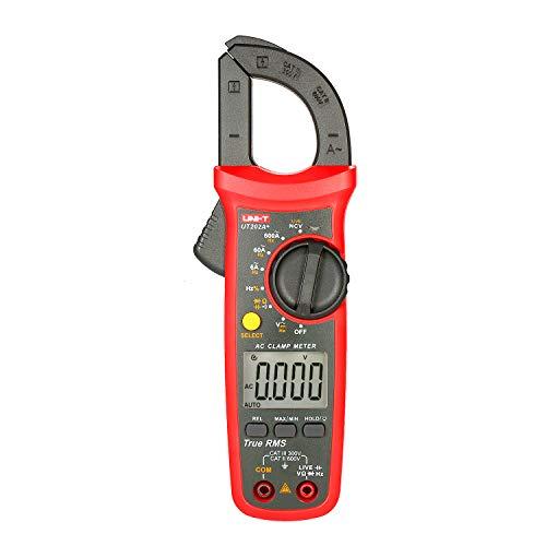 Fesjoy UT202A + 6000 Zählt Digitalzangenmessgerät True RMS Multimeter Zangenamperemeter Spannungsmessgerät NCV-Test Universalzangenmessgerät Wechselstromzangenmessgerät Messen des relativen Werts