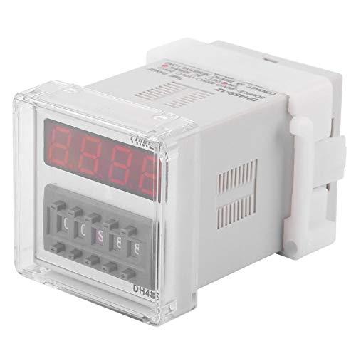 Relé del Temporizador, Interruptor de relé de Tiempo del relé de sincronización de la Pantalla LED Digital 0.01S-99H(12VDC)