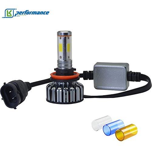 Kit de conversion de phare LED H4 avec lumière blanche super brillante 20 000 lumens 100 W avec couleurs interchangeables