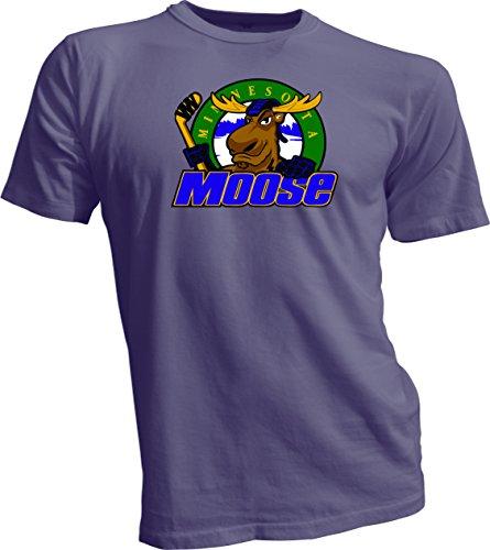 MINNESOTA MOOSE Defunct St. Paul MN IHL Hockey Retro Gray T-SHIRT NEW Large