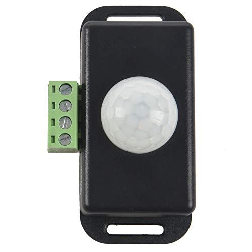 Baalaa Interruptor automático del sensor de movimiento PIR infrarrojo 12V-24V 6A para la luz LED