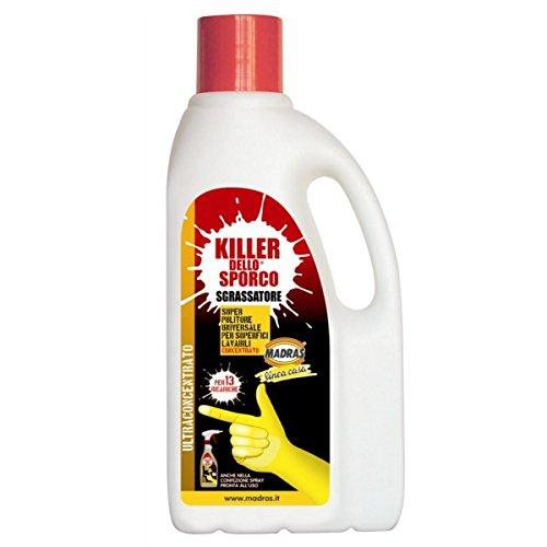 'KILLER DELLO SPORCO' LT 1 MADRAS - SGRASSATORE CONCENTRATO 1 FLACONE