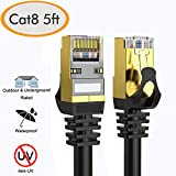 Cat 8 Ethernet Cable 5 ft Shielded, 26AWG Lastest 40Gbps 2000Mhz...