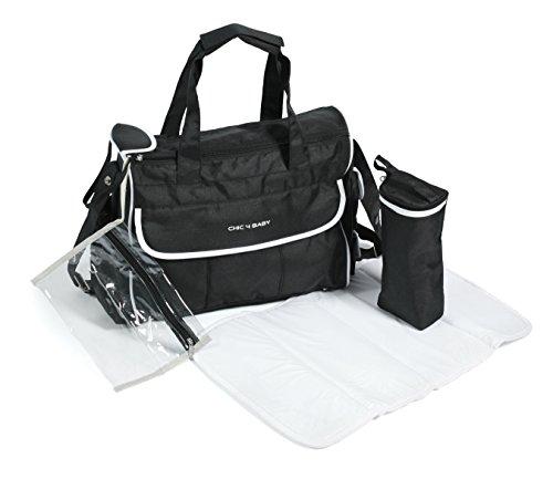 CHIC 4 BABY 405 90 Wickeltasche Luxury, schwarz-weiß
