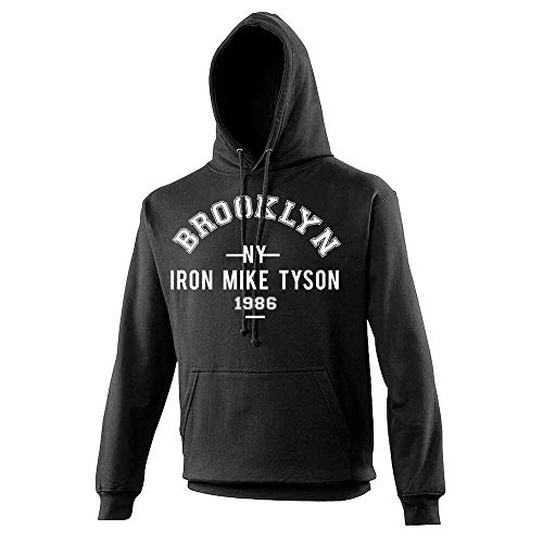 Iron Mike Tyson Brooklyn NY 1986 Hooded Top/Hoody/Hoodie Boxing Black