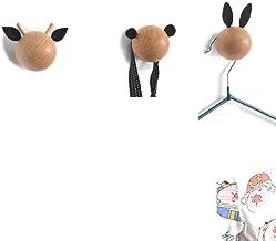3 stks Kamer Decoratie Houten Kapstok Hoofd Muur Haken Perfect voor opknoping handdoek kleding hoed tas sleutel sjaal, b