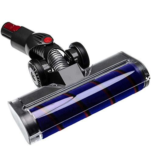 vhbw buse de Sol buse Soft remplace Dyson 966489-08, 966489-11 pour aspirateur - Gris/Lilas/Rouge/Noir 25cm avec Mousse Soft