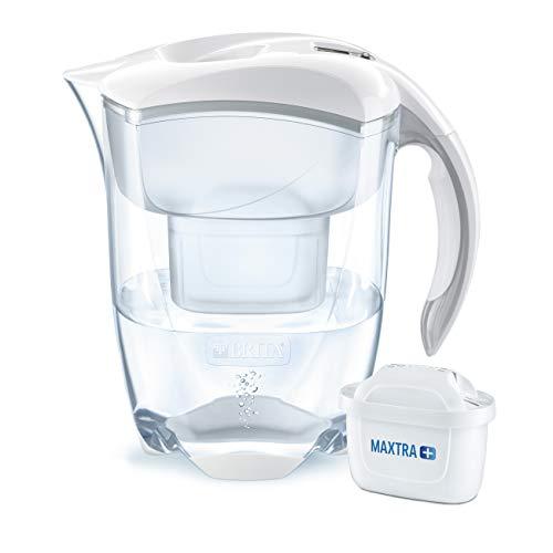 BRITA Wasserfilter Elemaris XL weiß, inkl. 1 MAXTRA+ Filterkartusche – großer Wasser-Genuss durch die zuverlässige Reduzierung von Kalk und Chlor im Leitungswasser