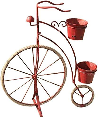 Supporto per fiori WGZ- Fiore Stand Rustico Retro Ferro Biciclette Modeling Fiore Stand del Galleggiante antiquariato della Decorazione della Bicicletta Bar for Finestra Facile (Color : Red)