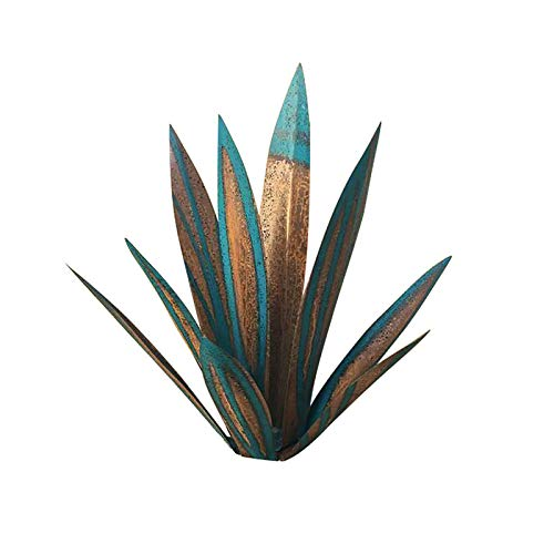 ZGHYBD Metal Agave Plants Sculpture DIY Rustic Home Garden Yard Art Decoration,Home Statue Decor Garden Figurines Lawn Ornaments,9 Leaves Agave Plants Figurines Designed for Easter