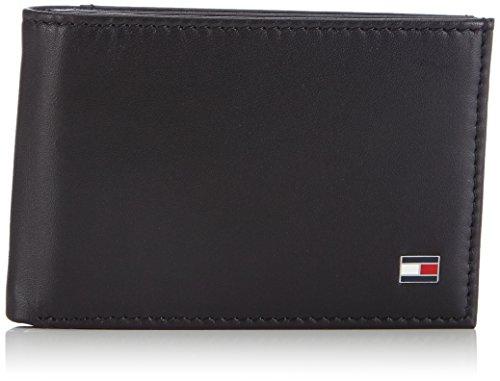 Tommy Hilfiger Eton Mini CC Flap & Coin Pocket - Monederos para Hombre, Color Schwarz (Black 990), Talla 11x7.5x2 cm (B x H x T)