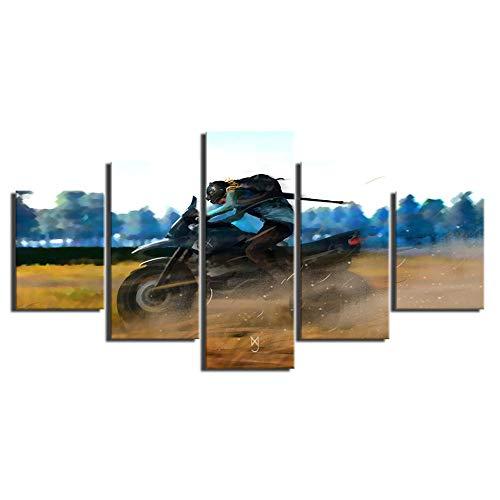 Speedcoming Leinwand gedruckt Poster Modern Home Decoration 5 Stück Pubg Malerei Spiel Charakter Wandkunst Bilder Cuadros Wohnzimmer Modular R 215-40x60cm 40x80cm 40x100cm