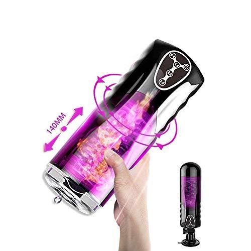 M-asturbador de copa eléctrica USB Love Ji, Recargable Automático Eléctrico Macho Sucker Fuerte Pistón Ventosa Bolsillo Juguetes Masculinos J-uguetes e-róticos M-asturbadores Masculinos