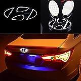 "5D LED Car Tail Logo Light Badge Lamp 5.1""2.5"" Tailgate Emblem Fit for Hyundai SONATA SONATA(YF) TUCSON for ACCENT front emblem (White)"