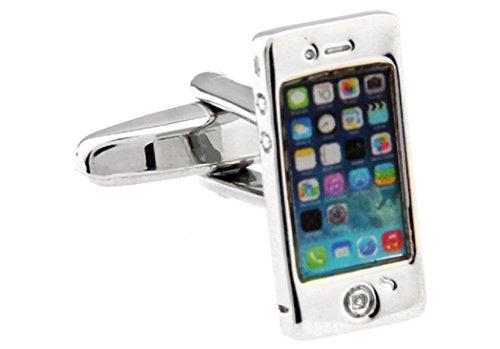 MRCUFF Smart Cell Phone Pair Cufflinks in a Presentation Gift Box & Polishing Cloth
