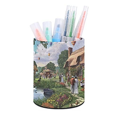 Hermoso soporte para bolígrafos Sunday Walk, organizador de escritorio, taza de bolígrafo, organizadores de escritorio de oficina y accesorios