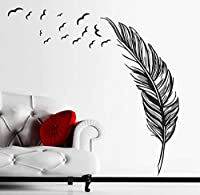 Birds FlyingFeatherリムーバブルウォールステッカービニールホームデカール壁画アートデコレーションDiy防水デザインウォールステッカー壁画57 * 88Cm