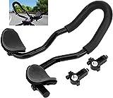 Bike Aero Bar Cycling Adjustable Multi-Position Armrest Triathlon Small Diameter(0.87-1in) Handlebar