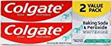 Colgate Colgate baking soda and peroxide whitening toothpaste, frosty mint - 6 ounce (twin pack), 12 Fl Oz