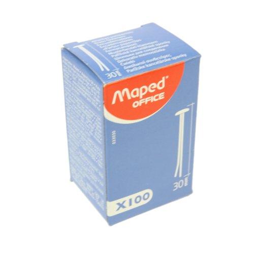 Maped 033030 Tête Ronde Motif Sacs Agrafes, en laiton, 30 mm