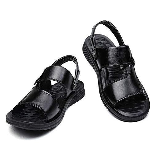 Verano Nuevas Sandalias Y Zapatillas Sandalias De Cuero Para Hombres Zapatos De Playa De Fondo Grueso Para Hombres Adultos Sandalias De Cuero Antideslizantes Con Punta Abierta