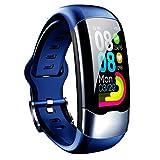 GZA Pulsera Inteligente Reloj Deportivo USB Pulsera Inteligente Moda Impermeable Monitoreo De Frecuencia Cardíaca Pulseras para Fitness Set A (Color : Sea Blue)