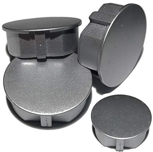 STECKEL - 4 tapas protectoras para enchufes, color plateado