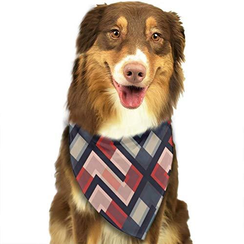 Sitear Lijnen Kleurrijke Geometrische Behang Hond Kat Bandana Driehoek Bibs Sjaal Huisdier Geschikt voor Kleine Tot Grote Hond Katten