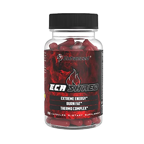ECA Shred Fat Burner - 5 Powerful Weight Loss Pills in One - Weight Loss Supplement, Appetite Suppressant, Energy Booster - White Willow Extract - 30 Servings (60 Capsules)