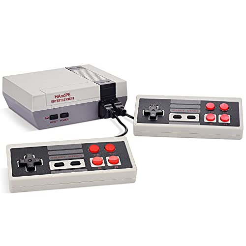 HAndPE Retro Classic Mini Game Console Childhood Game Consoles Built-in 620 Game(Some are Repeated) Dual Control 8-Bit Handheld Game Player for TV Video Bring Happy Childhood Memories