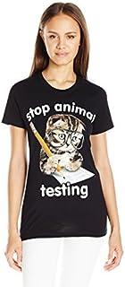 Goodie Two Sleeves Juniors Stop Animal Testing Graphic Tee