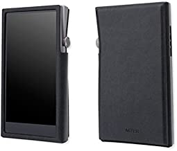 For Astell&Kern A&futura SE100, Hand Crafted MITER PU Leather Case Cover [Patented Stand Case] A&futura se 100 Case (Light Black)