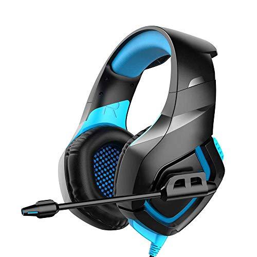 L&B-MR Auriculares Gaming PS4 Auriculares con Micrófono, Reducción De Ruido, Sonido Envolvente, Auriculares con Cable para PS4,PC,Xbox One,Nintendo Switch, Auriculares Diadema con