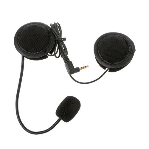 Lagand - Altavoz de micrófono para intercomunicador de Motocicleta con Conector de 3,5 mm