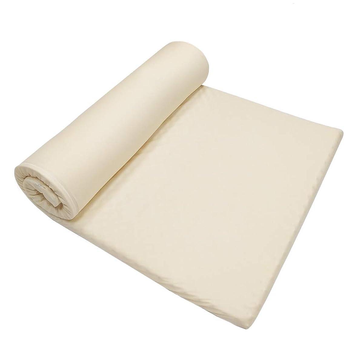 パース代数的ピークZerohub マットレストッパー 腰痛 折り畳みマットレス シングル 簡易マットレス 100×190×5cm プロファイル加工 点で支える 高反発 ウレタン ベッドマット 敷布団 やわらかめ ごろ寝マット 重ね使い用