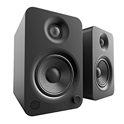 Kanto YU4 Powered Speakers with Bluetooth® and Phono Preamp, Matte Black by Kanto