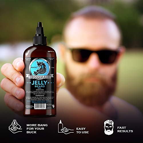 Bossman Brands JELLY Beard Oil Magic Scent, First of its Kind, 2 in 1 moisturizing, taming and...