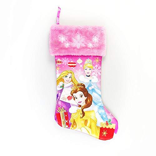 """Disney Princess Satin Christmas Stocking, 20"""", Multi-Color"""