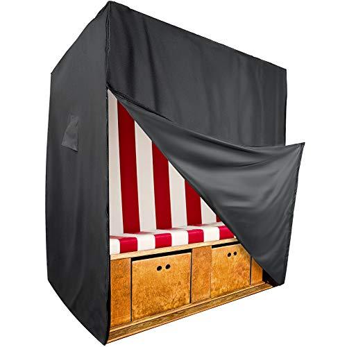 Fast Mile Housse de protection pour fauteuil-cabine de plage en tissu Oxford 600D de qualité supérieure - Respirante, résistante aux UV - Largeur max. 135 cm