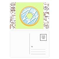 ブルーデザート甘いドーナツ 公式ポストカードセットサンクスカード郵送側20個