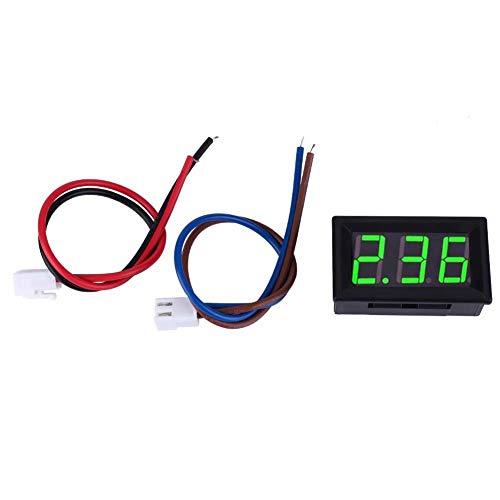 Digital Amperemeter, 0,56 Zoll LED Anzeige Amperemeter Amp Testing Meter, DC Strom Mess Feld 3 Stellige Amp Gauge 0-10A(Grün)