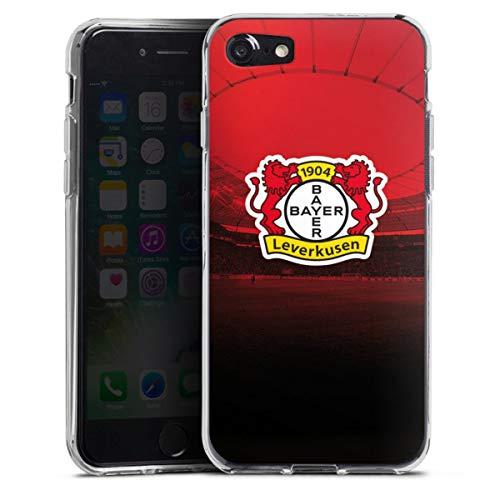DeinDesign Silikon Hülle kompatibel mit Apple iPhone SE (2020) Case transparent Handyhülle Bayer 04 Leverkusen Fußball Offizielles Lizenzprodukt