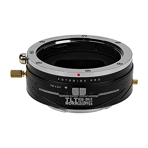 Fotodiox Pro TLT ROKR - Tilt/Shift Lens Mount Adapter Compatible with Canon EOS (EF/EF-S) D/SLR Lenses to Sony Alpha E-Mount Mirrorless Camera Body