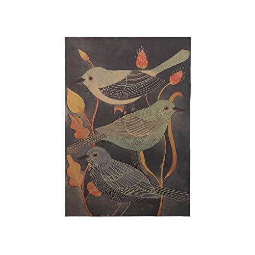 3 STKS Nachtegaal Schoonheid Vogel Vintage Poster Retro Decoratief Schilderen Kraftpapier voor Woonkamer Muursticker 51.5X36cm