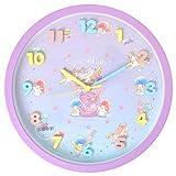 時計 壁掛け かわいい 掛け時計 30cm 壁掛け時計 立体文字盤 キャラクター サンリオ