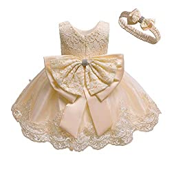 Champagne Color Tutu Dress With Rhinestones for Baby