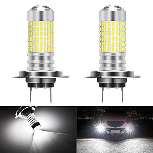 KATUR H7 Ampoules LED Anti-Brouillard Max 80W Super Lumineux 3000 lumens 6500K Xenon Blanc avec projecteur pour la Conduite de Feux diurnes DRL ou antibrouillard, 12V -24V (Pack de 2)