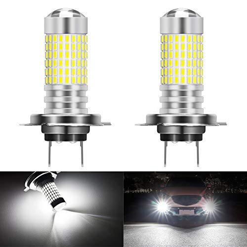 KATUR H7 LED Fog Light Bulbs Max 80W Super Bright 3000 Lumens 6500K Xenon White With Projector for Driving Daytime Running Lights DRL or Fog Lights,12V -24V (Pack of 2)