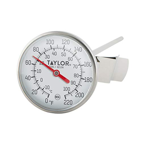 Taylor Precision 8215N 8-Inch Bi-Therm Pocket Dial Thermometer, 1.75-Inch Dial, 0 to 220 Degree F, NSF Maryland